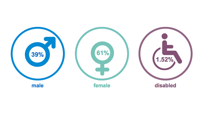 Sanlam EVP - Gender distribution
